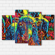 Load image into Gallery viewer, Color Splash Lamb Canvas Sets