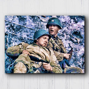 Saving Private Ryan Covering Fire Canvas Sets