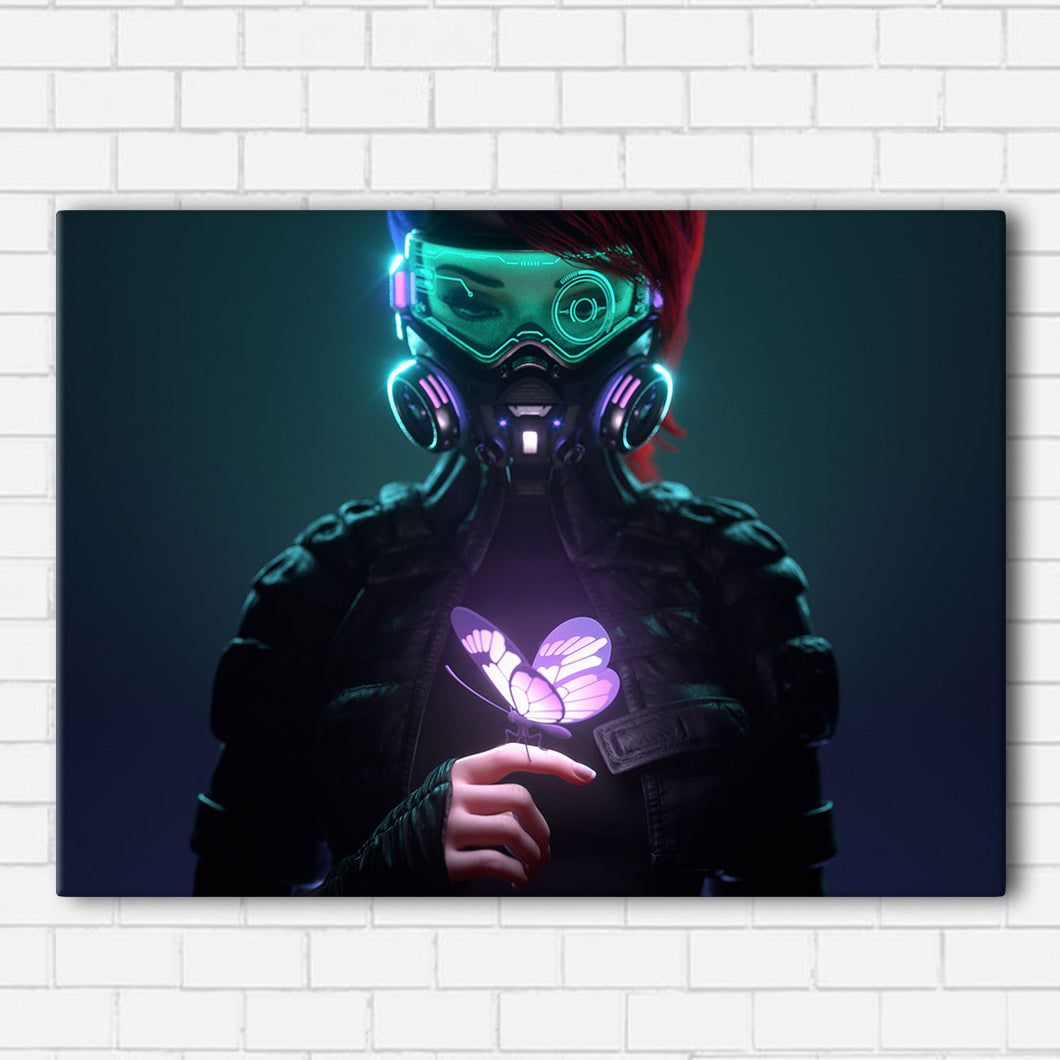 Cyber Punk Butterfly Canvas Sets
