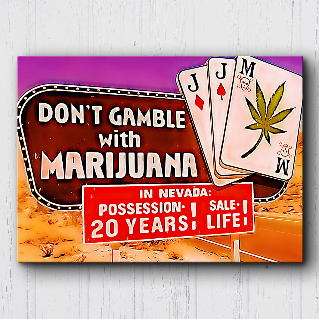 Fear And Loathing Don't Gamble Canvas Sets