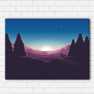Forrest Sunset Canvas Sets
