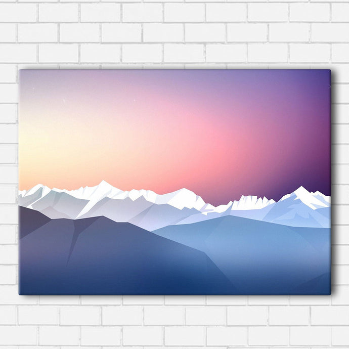 Frozen Mountain Range Canvas Sets