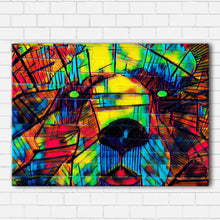 Load image into Gallery viewer, Grizzly On Brick Color Splash Canvas Sets