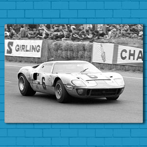 "GT 40 Canvas SetsWall Art1 PIECE / SMALL / Standard (.75"") - Radicalave"