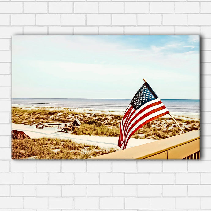 Jacksonville Beach Flag Canvas Sets