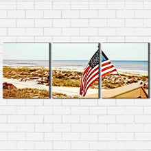 Load image into Gallery viewer, Jacksonville Beach Flag Canvas Sets