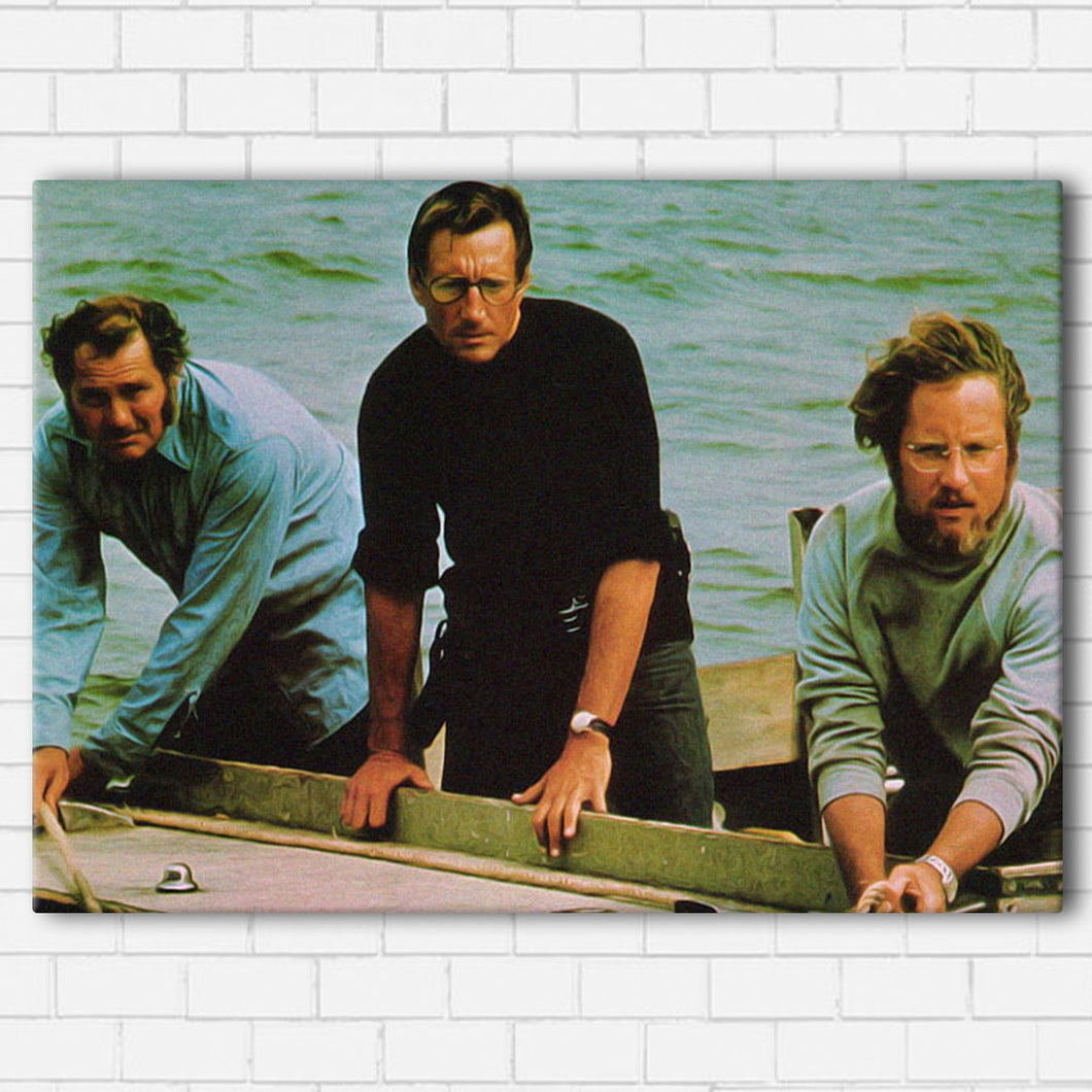 JAWS THE CREW Canvas SetsWall Art1 PIECE / SMALL / Standard (.75