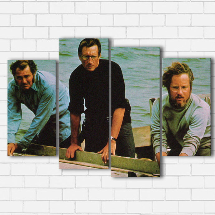 JAWS THE CREW Canvas SetsWall Art4 PIECE / SMALL / Standard (.75