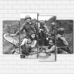"Kelly's Heroes - The Crew Canvas SetsWall Art4 PIECE / SMALL / Standard (.75"") - Radicalave"