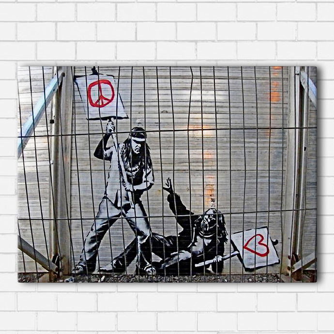 Banksy Between Love & Peace Canvas Sets