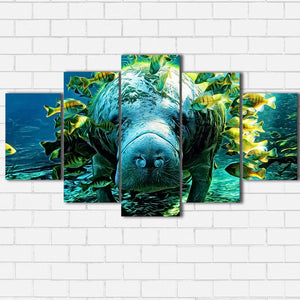 Manatee and Fish Canvas Sets