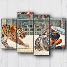 Load image into Gallery viewer, Gladiator Maximus Vs Tiger Canvas Sets