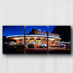American Graffiti Mel's Drive In Canvas Sets