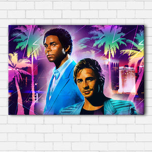 Miami Vice Crockett and Tubbs Canvas Sets