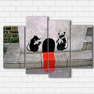 Banksy Fine Dining Canvas Sets
