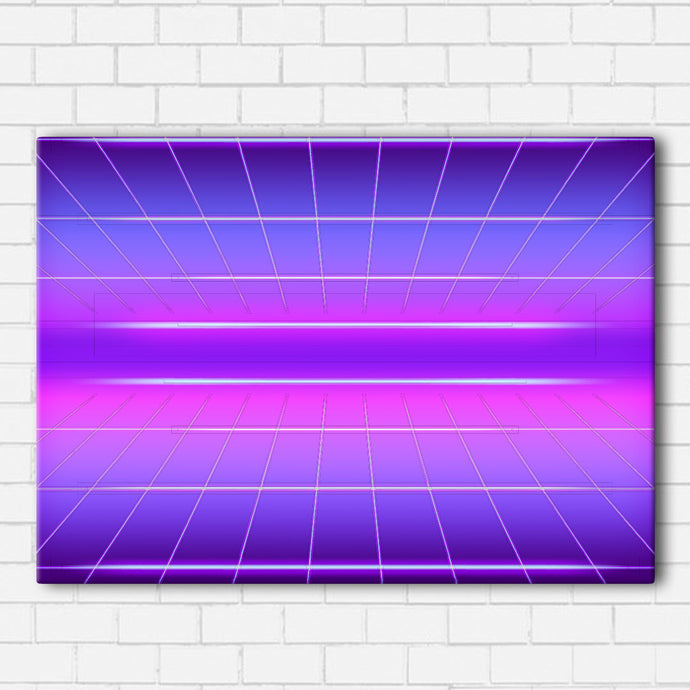 Neon Grid Canvas Sets