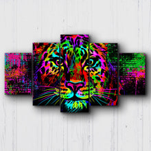 Load image into Gallery viewer, Neon Drip Leopard Canvas Sets