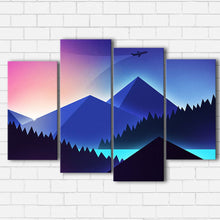 Load image into Gallery viewer, Neon Mountains Canvas Sets