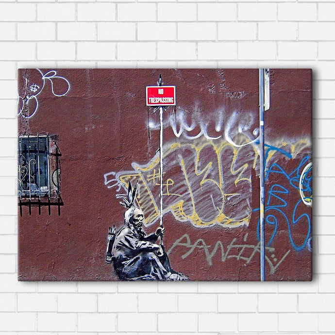 Banksy No Trespassing Canvas Sets