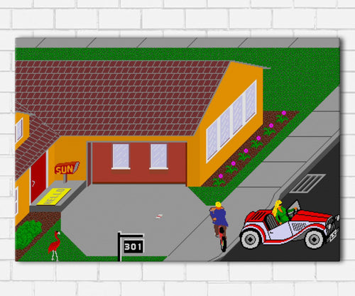 Paperboy Game Canvas Sets