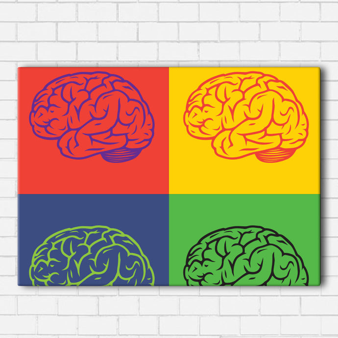 Pop Art Brain Canvas Sets