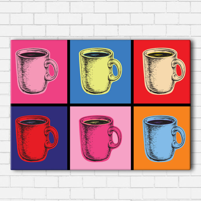 Pop Art Coffee Canvas Sets