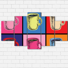 Load image into Gallery viewer, Pop Art Coffee Canvas Sets