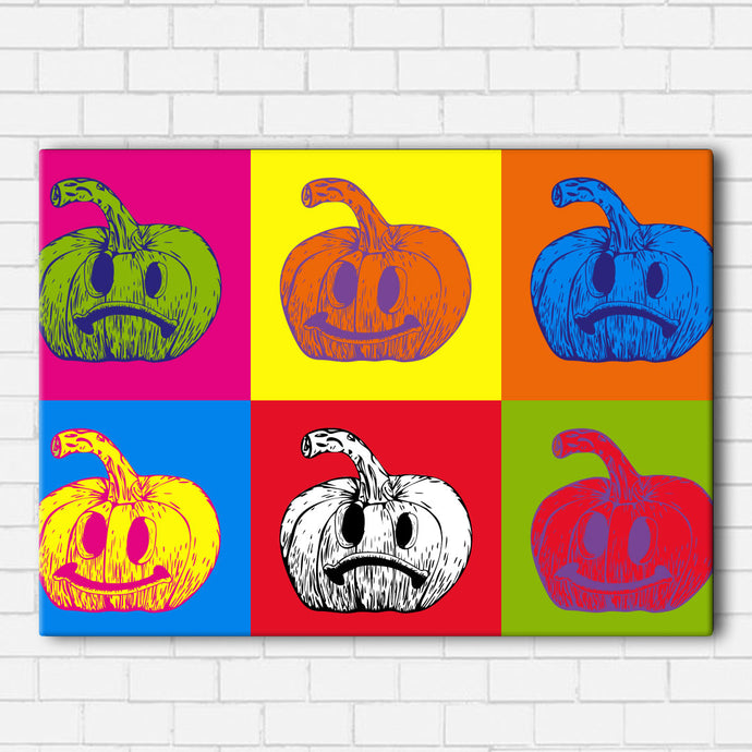 Pop Art Jack O Lantern Canvas Sets