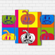Load image into Gallery viewer, Pop Art Jack O Lantern Canvas Sets