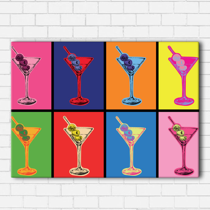 Pop Art Martini Canvas Sets