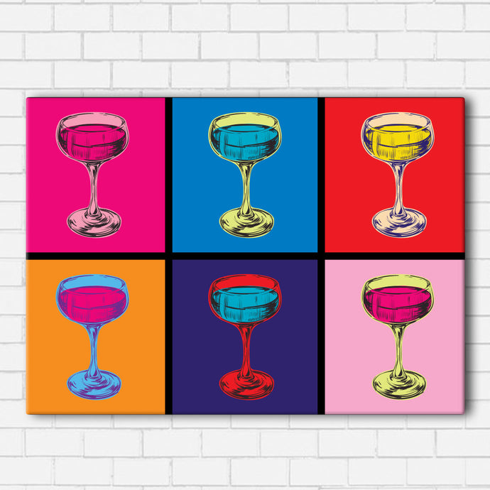 Pop Art Wine Canvas Sets