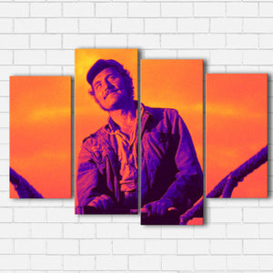 "JAWS QUINT Canvas SetsWall Art4 PIECE / SMALL / Standard (.75"") - Radicalave"