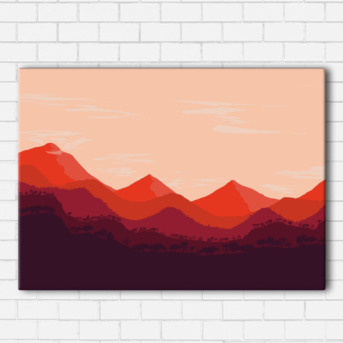 Red Mountains Canvas Sets