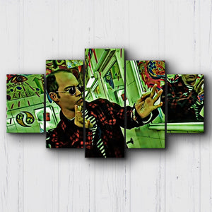 Fear And Loathing Red Woolen Jacket Canvas Sets