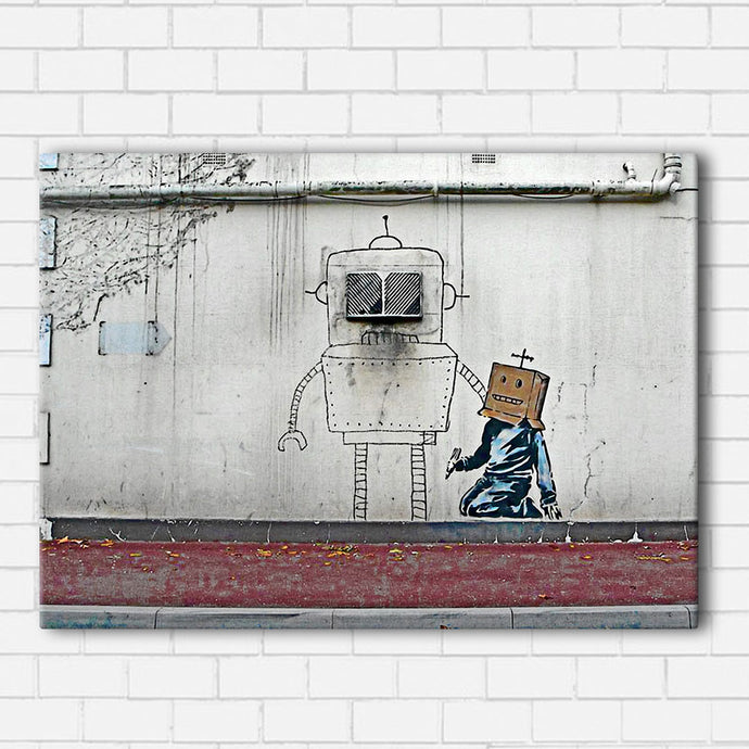 Banksy Robot Art Canvas Sets