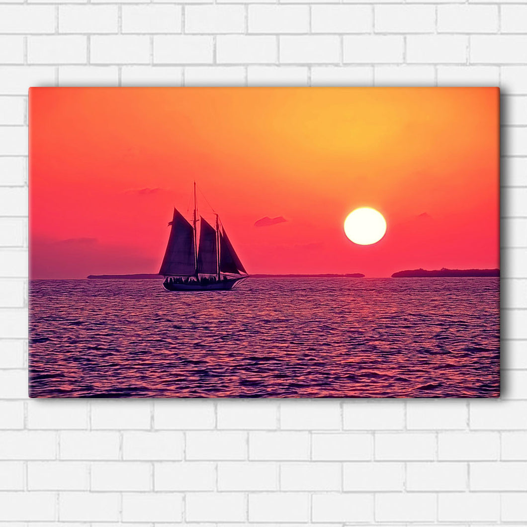 Sail at Sunset Canvas Sets