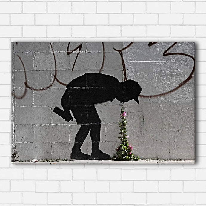 Banksy Flowers Canvas Sets