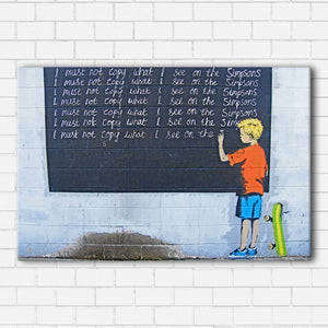 Banksy Simpsons Canvas Sets