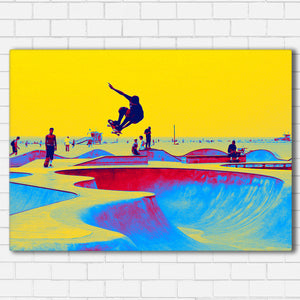 "Skate World Canvas SetsWall Art1 PIECE / SMALL / Standard (.75"") - Radicalave"
