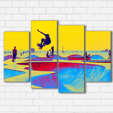 "Load image into Gallery viewer, Skate World Canvas SetsWall Art4 PIECE / SMALL / Standard (.75"") - Radicalave"