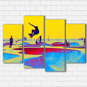"Skate World Canvas SetsWall Art4 PIECE / SMALL / Standard (.75"") - Radicalave"
