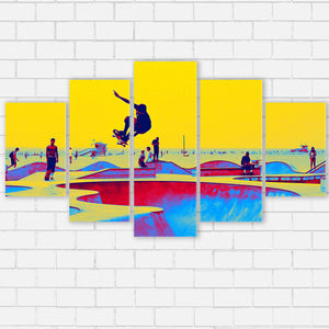 "Skate World Canvas SetsWall Art5 PIECE / SMALL / Standard (.75"") - Radicalave"