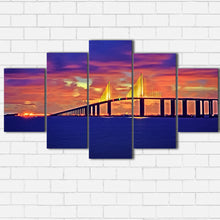 Load image into Gallery viewer, Skyway Bridge Sunset Canvas Sets