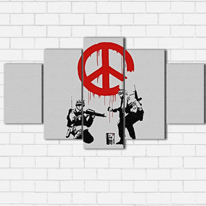 Banksy Peace Sign Canvas Sets
