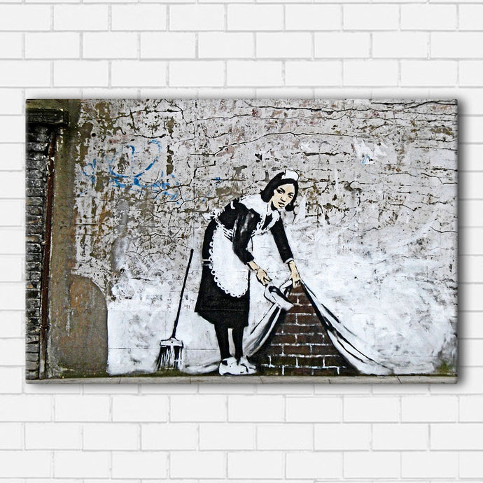 Banksy Under The Rug Canvas Sets