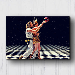 The Big Lebowski The Dude and Maude Canvas Sets