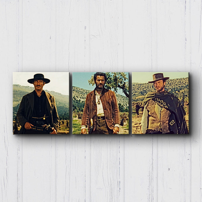 The Good The Bad The Ugly Stand Off Canvas Sets