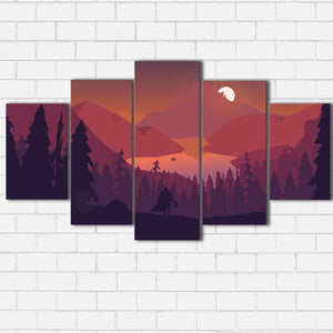 The Red Valley Canvas Sets