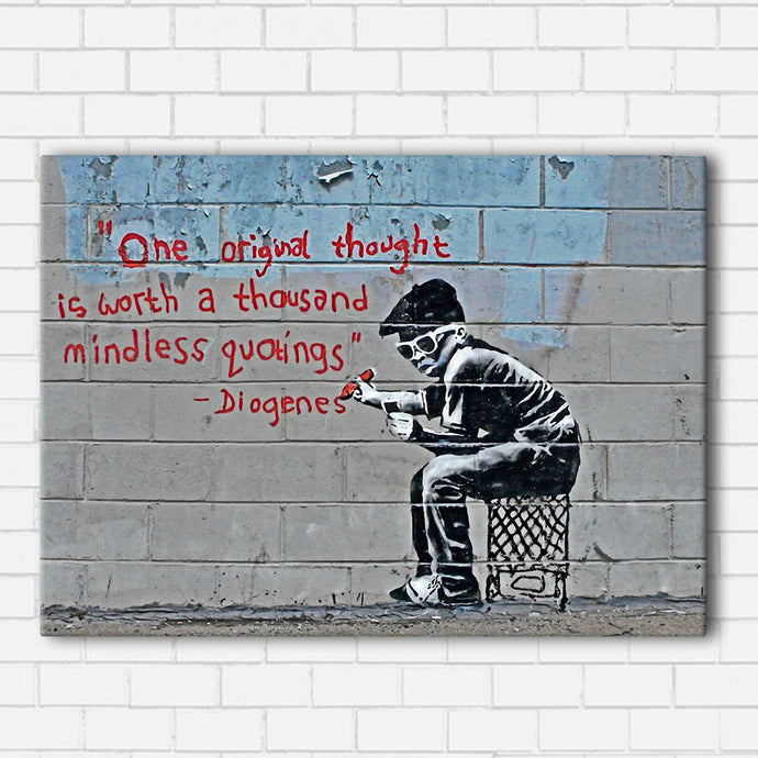 Banksy Original Thought Canvas Sets
