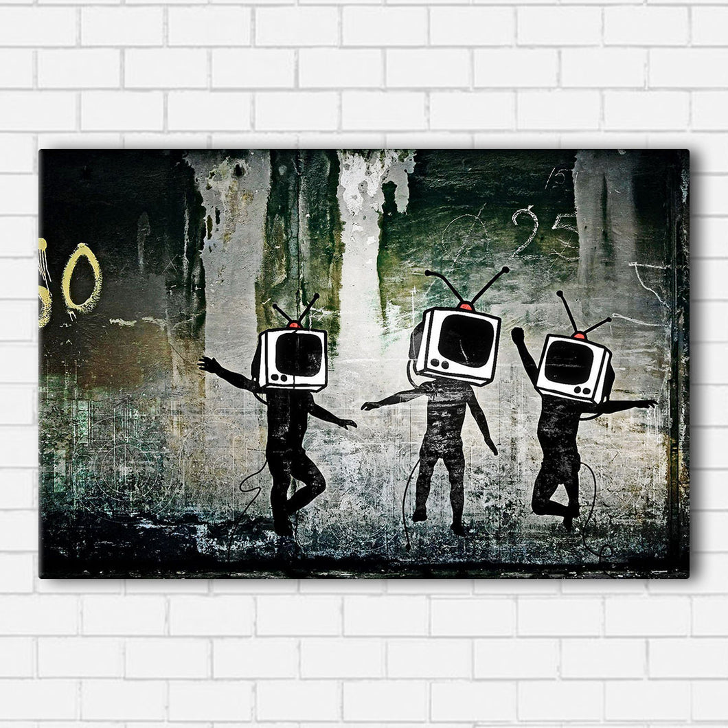 Banksy TV Generation Canvas Sets